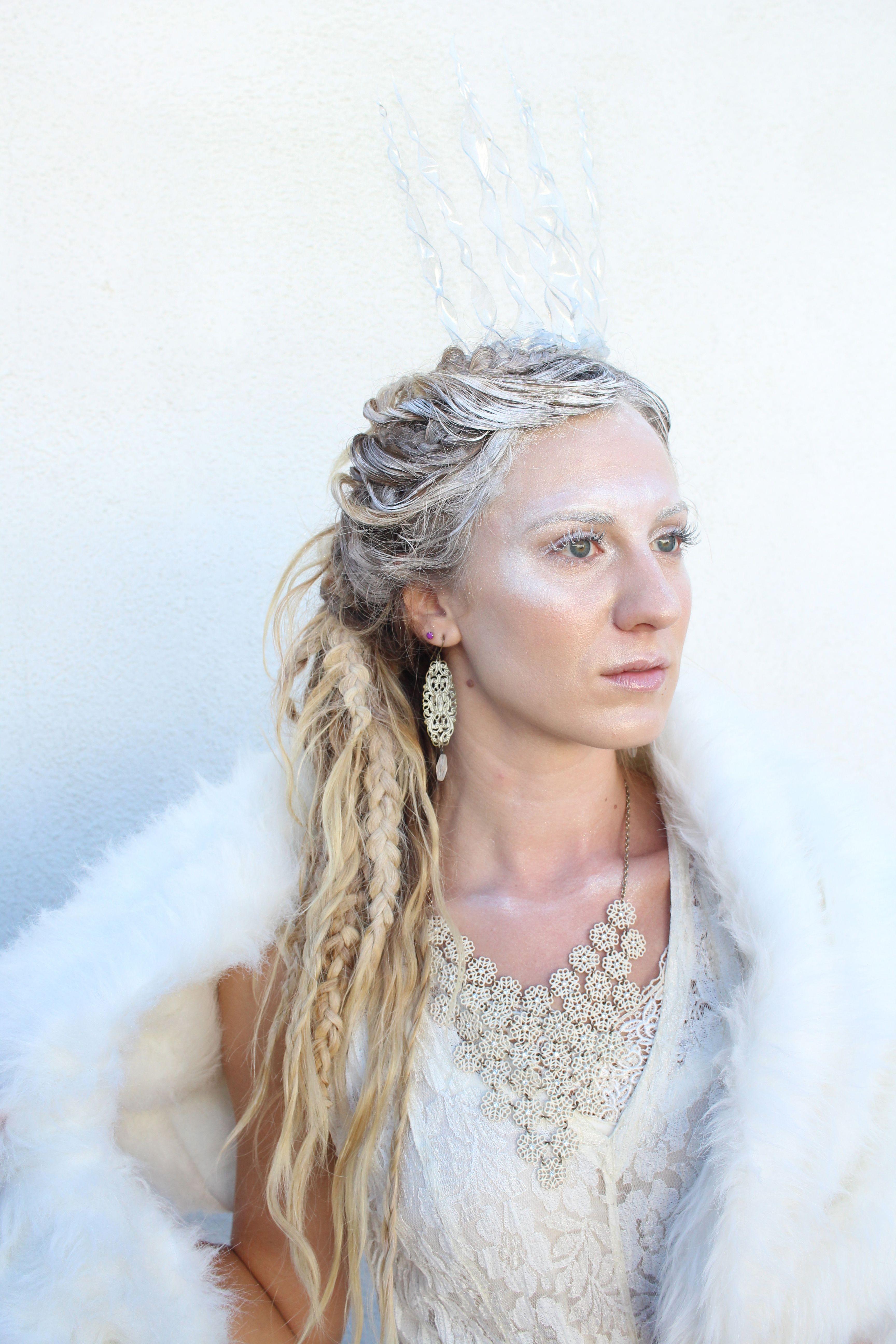 snow queen halloween costume hair