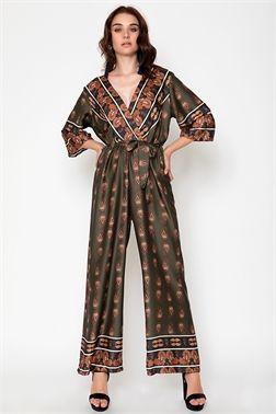 bf7f5de5a5 WRAP JUMPSUIT - CLOTHES -  Φορέματα   Φόρμες -  Ολόσωμες φόρμες ...