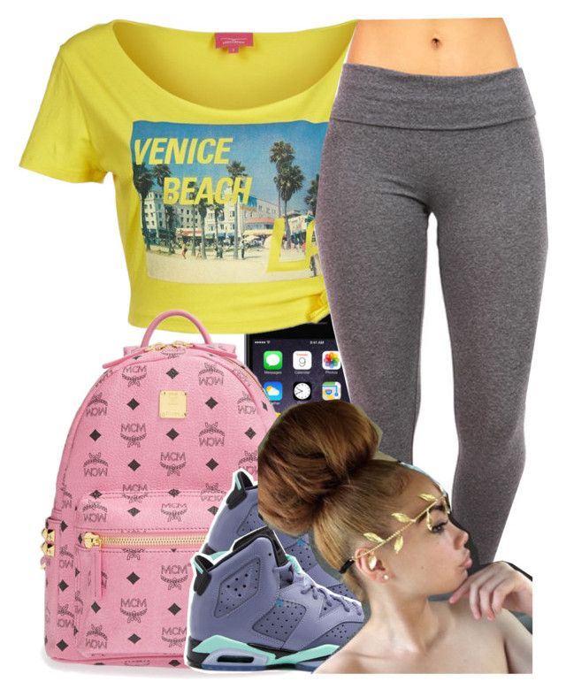"""We still have to go to school, they told us that last night!"" by clinne345 ❤ liked on Polyvore featuring Venice Beach and MCM"