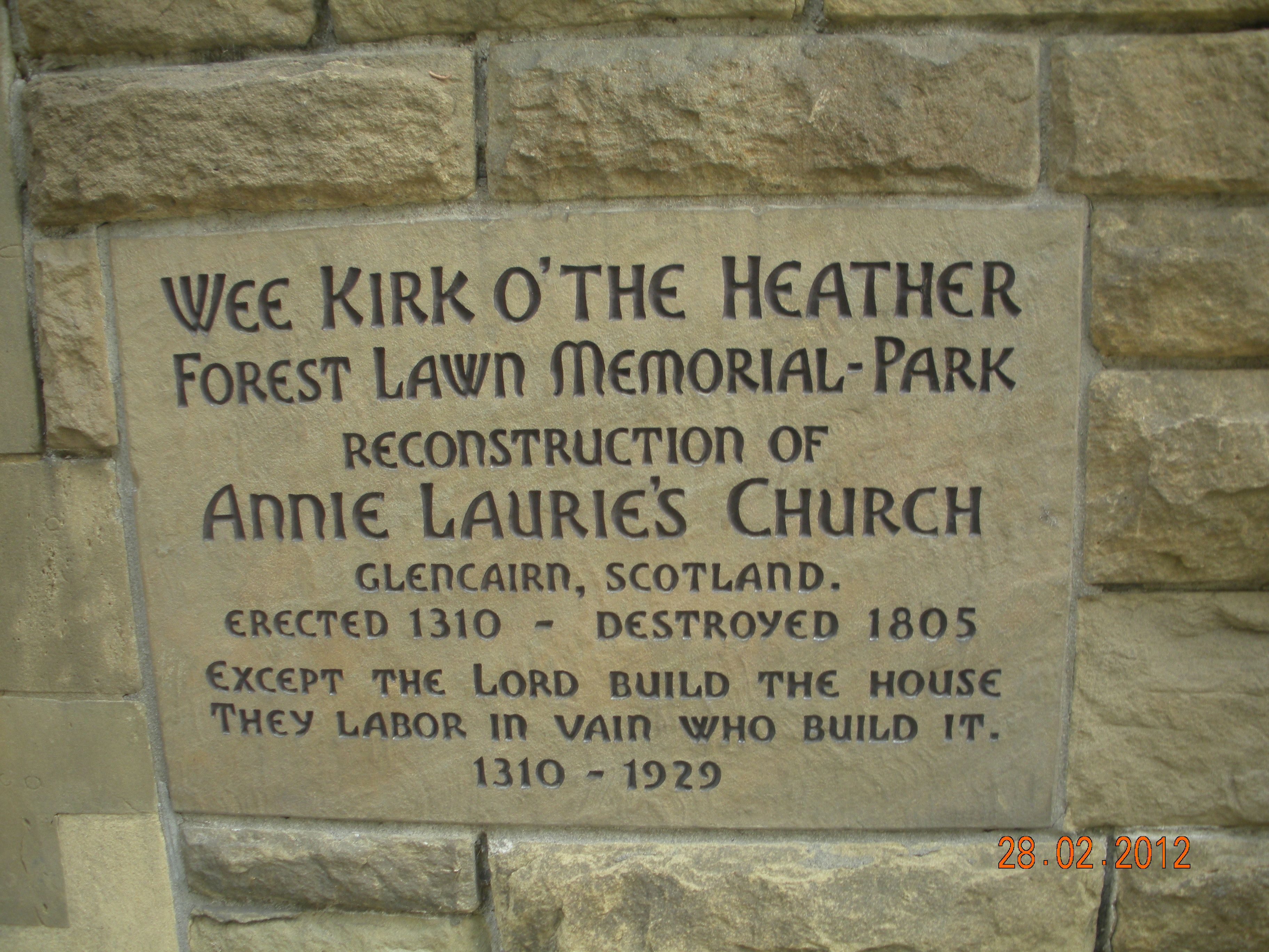 Forest Lawn, GlendaleWee Kirk o' The Heather Forest