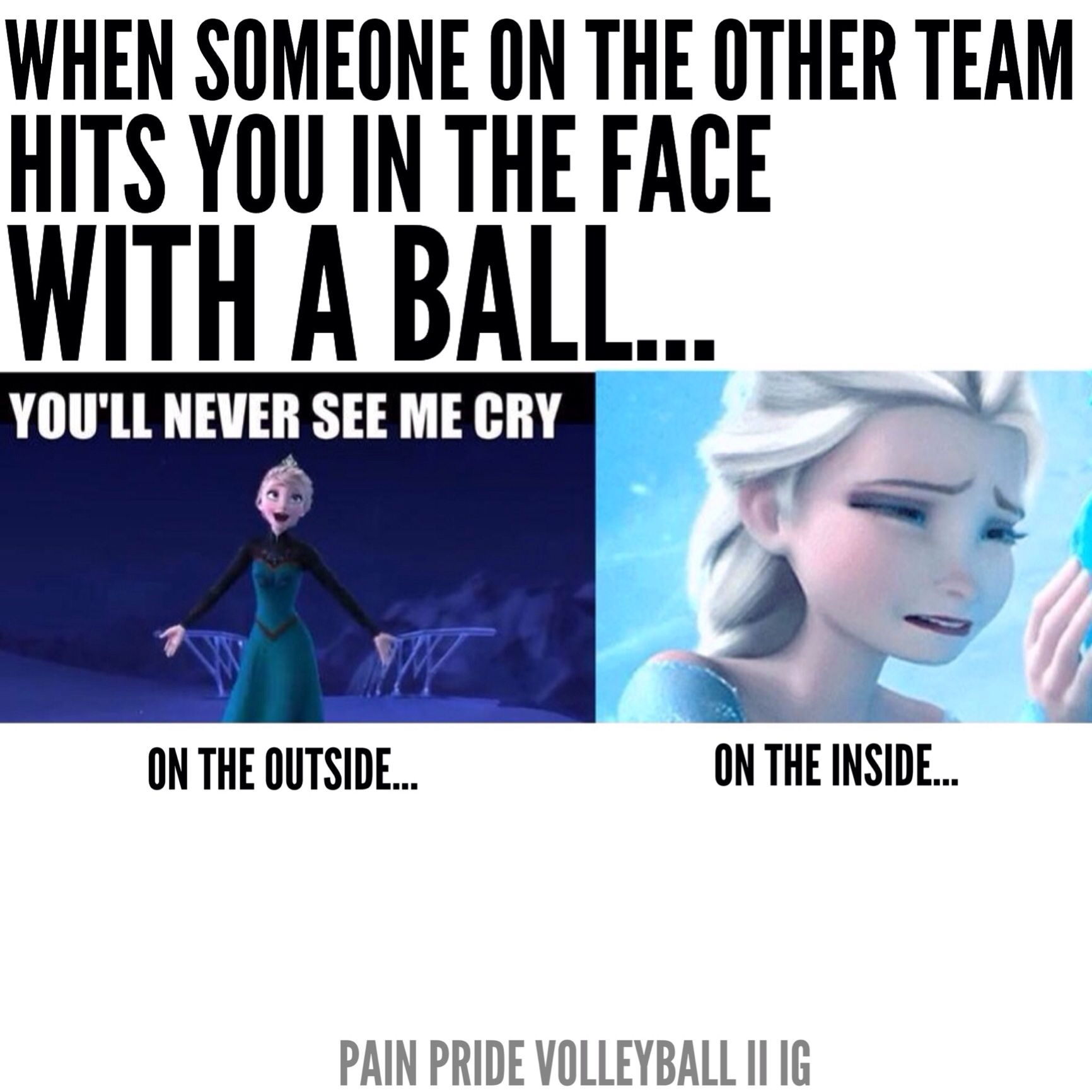 Ah Soccer When I Got Hit In The Face It Left A Scar But You Can Be Sure I Messed With That Girl The Rest Of The Game Volleyball Memes Soccer Funny