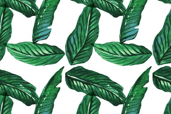 Vector Illustration Seamless Watercolor Palm Tree Background Available In EPS JPEG High Resolution