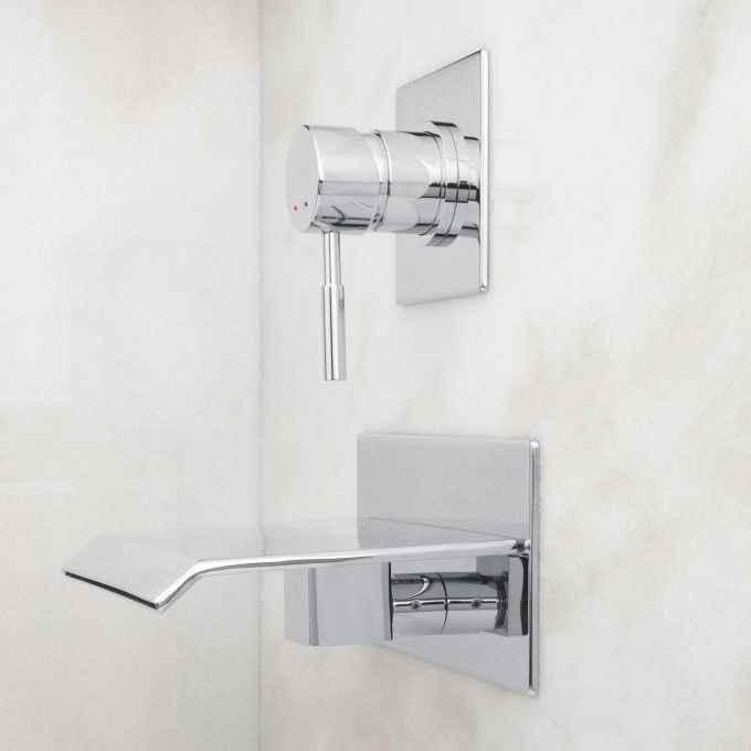 Lavelle Wall-Mount Waterfall Tub Faucet | Wall mount, Faucet and Tubs