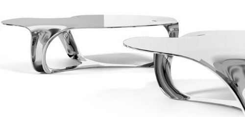 metal coffee table. Flow Drip Metal Coffee Table / Side By Timothy Schreiber