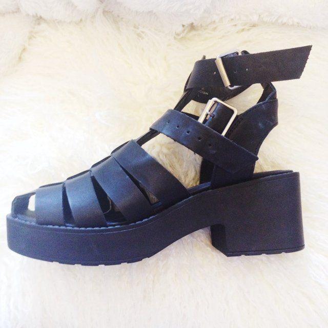 6943b30fa20 Listed on Depop by beccarose | Style | Sandals, Black platform, Depop