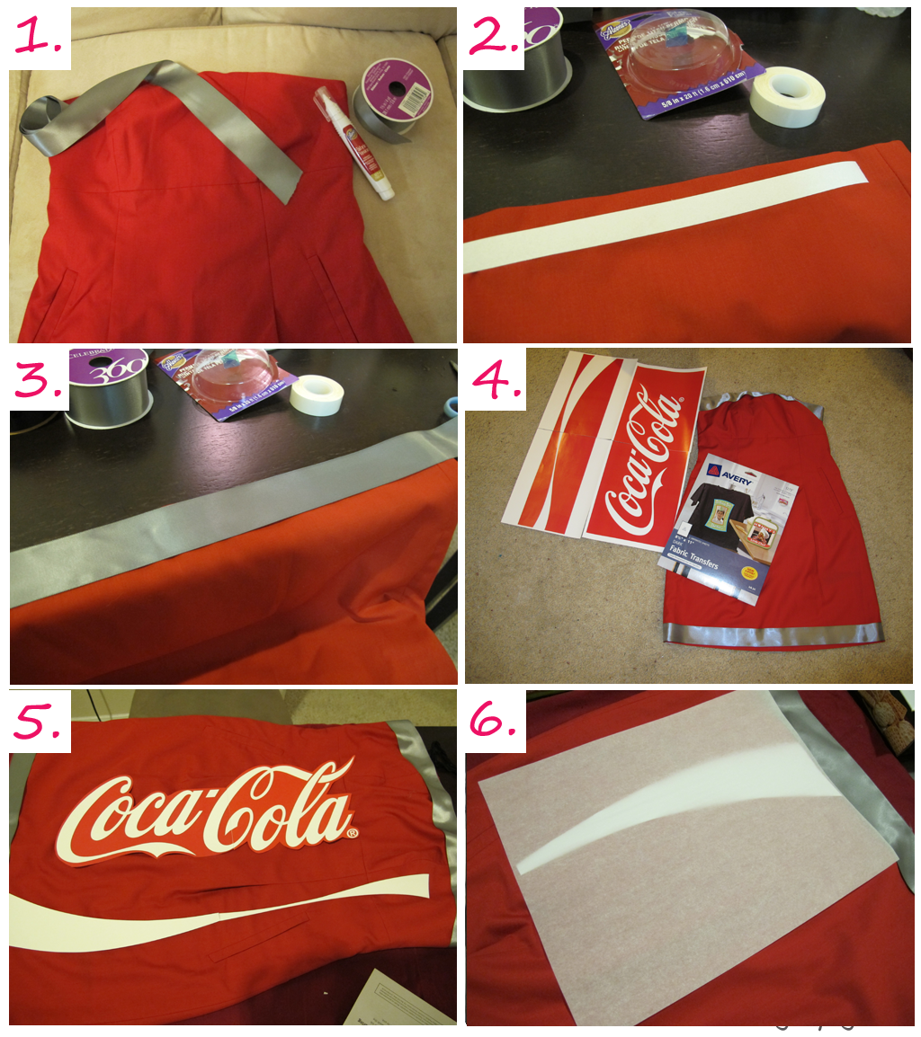 chungry girl diy coca cola costume selbst gen ht. Black Bedroom Furniture Sets. Home Design Ideas