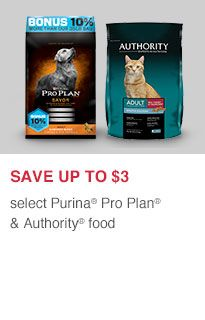 Save Up To 3 Select Purina Pro Plan Authority Food Online Pet Supplies Pet Supplies Puppy Supplies