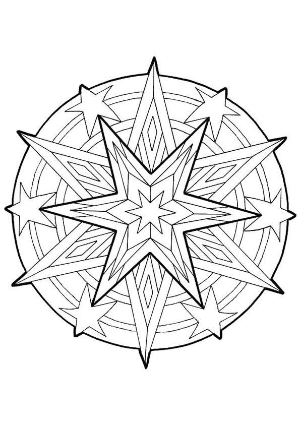 Kleurplaat Mandala kleurplaten (5246) | kleurplaten | School: kerst ...