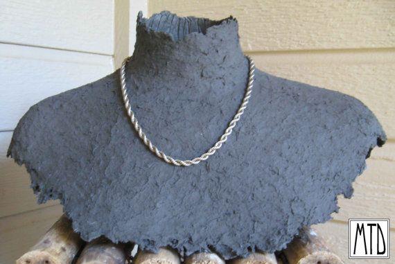 Mtd Papier Paper Mache Jewelry Display Bust Black Open Neck Jewellery Display Best Jewellery Design Precious Jewelry
