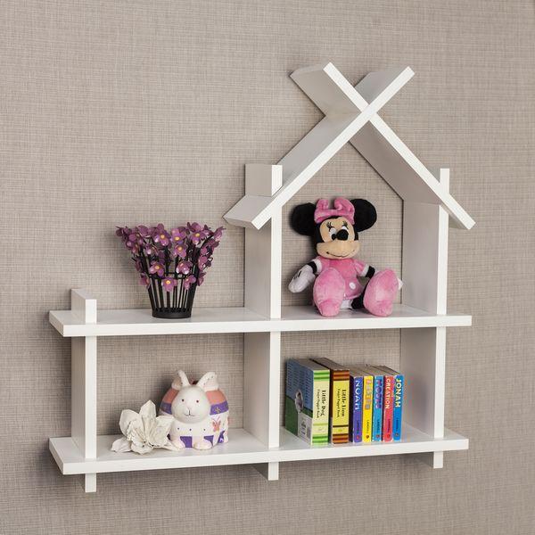 Danya B™ House Design White Wall Shelf DIY Around the House in