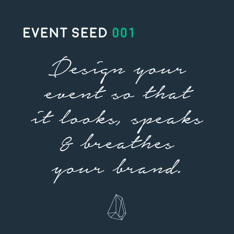 Want your business to grow with events? Make sure your event vibe and your brand vibe are one in the same. Leave your attendees feeling confident in your business, not confused 🌿