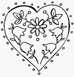 kleurplaten hartjes en bloemen