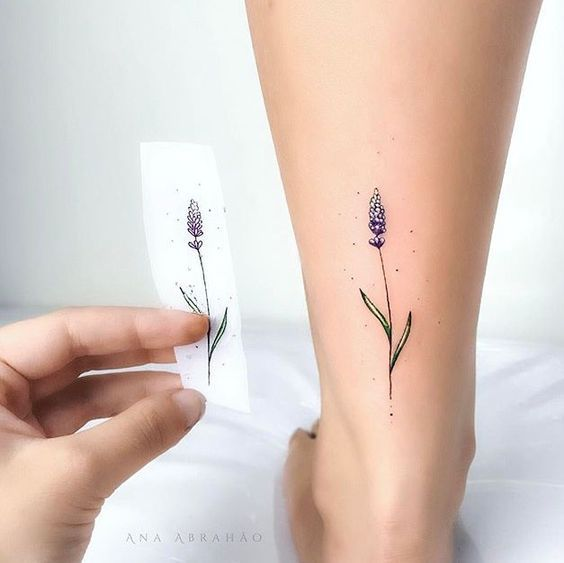 Artista Tatuador Muha Lee Tags Estilos Ilustracion Naturaleza Flores Lavanda Partes Del Cuerp Tatuaje Lavanda Tatuaje Tobillo Mujer Artistas Tatuadores