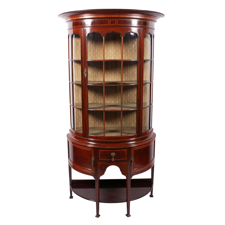 Edwardian Mahogany Display Cabinet Antique Dining RoomsDining