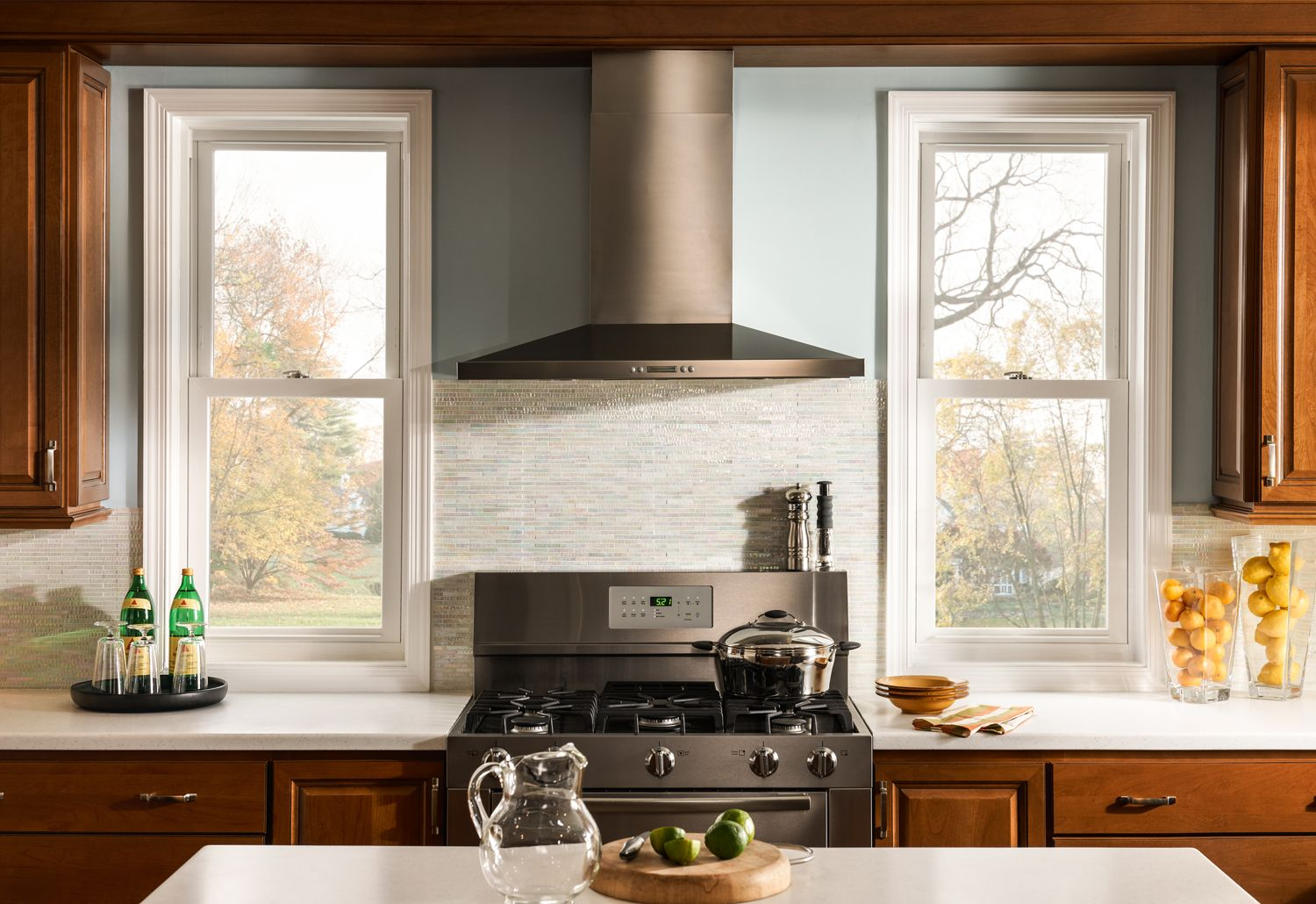 This Sleek Kitchen Looks So Bright And Inviting The Double Hung
