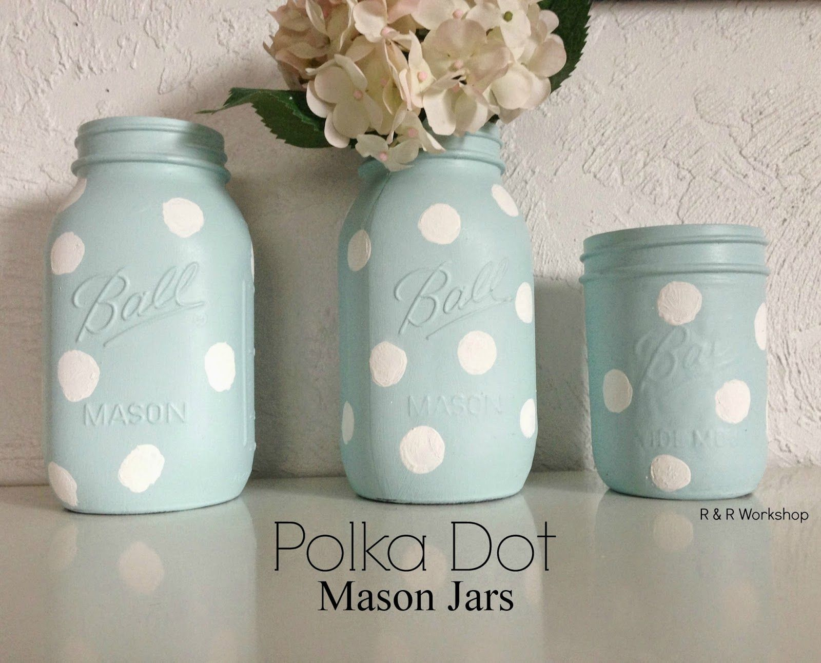 Diy polka dot jars crafts and diys