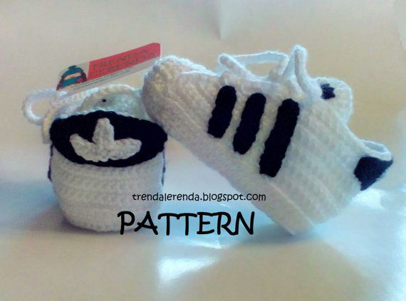 Adidas Superstar PATTERN crochet baby in 3 different sizes. In ...