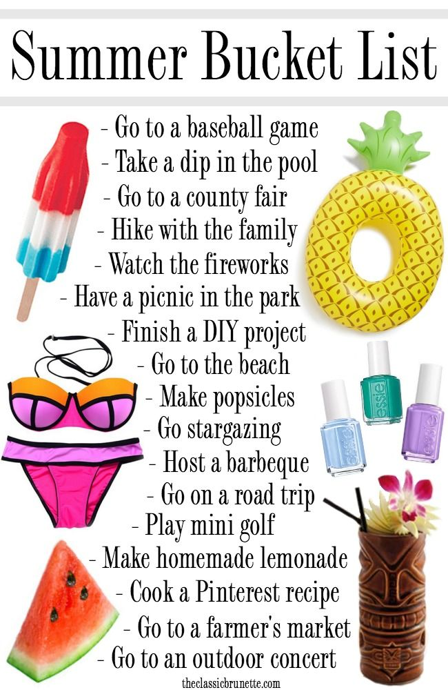 The ultimate summer bucket list for 2016 summer bucket for Cool things to make and do