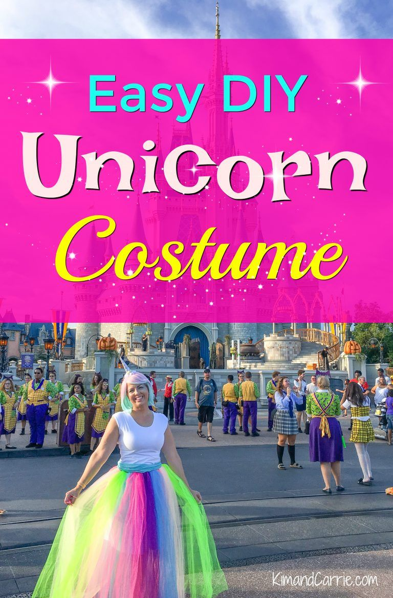 Be A Unicorn These Easy Pieces Combine To Create A Cute Diy Unicorn Costume For Halloween Birthday Parties Cosplay Or A Fun Day In A Theme Park