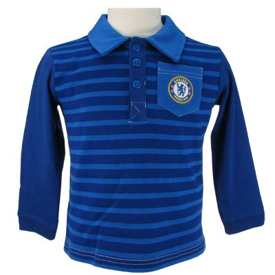 CHELSEA FC Polo Shirt to fit a 12-18 month old. 100 Cotton Rib 96 cotton 4 elastane Official Licensed Chelsea FC Gift. PRICE INCLUDES DELIVERY