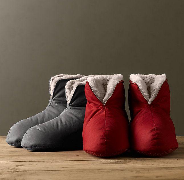 Ultimate Luxury Plush Foot Duvets Down Slippers Always
