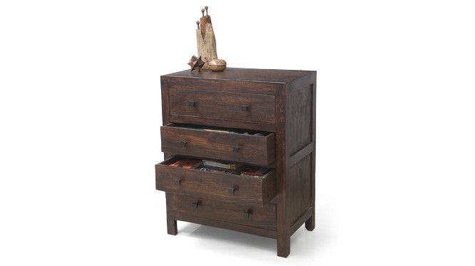 The Walter is a sturdy 4 drawer chest of drawers in solid Sheesham wood
