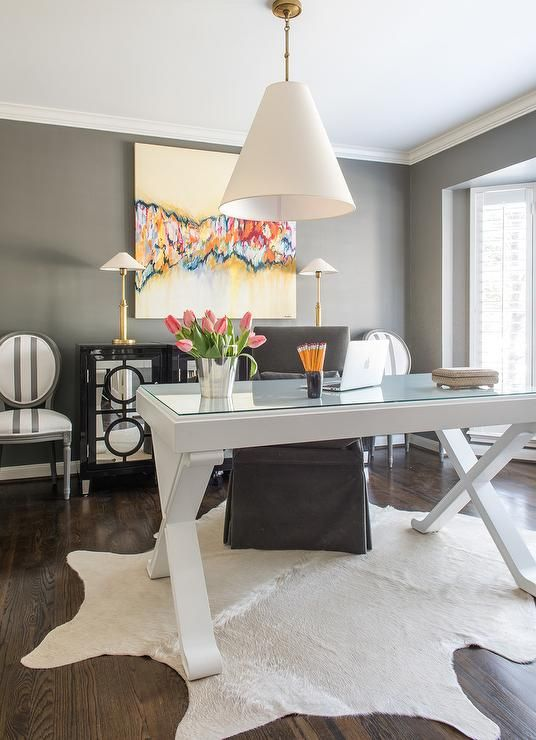 Fabulous Office Features A Goodman Hanging Lamp