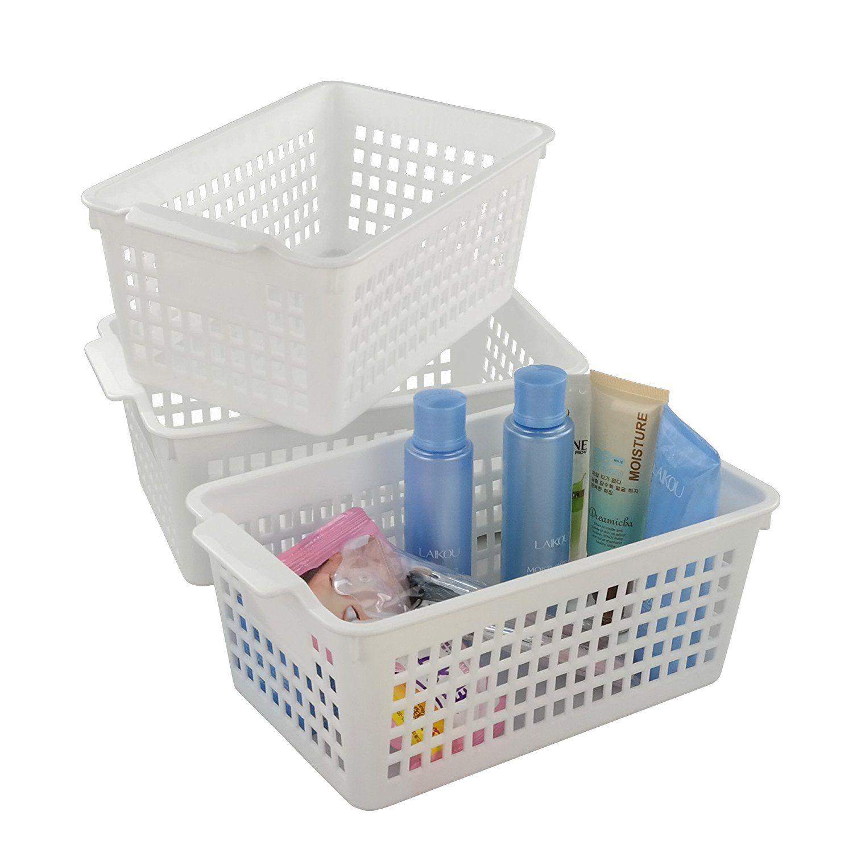 Amazon Com Fiaze White Bathroom Storage Basket For Health And