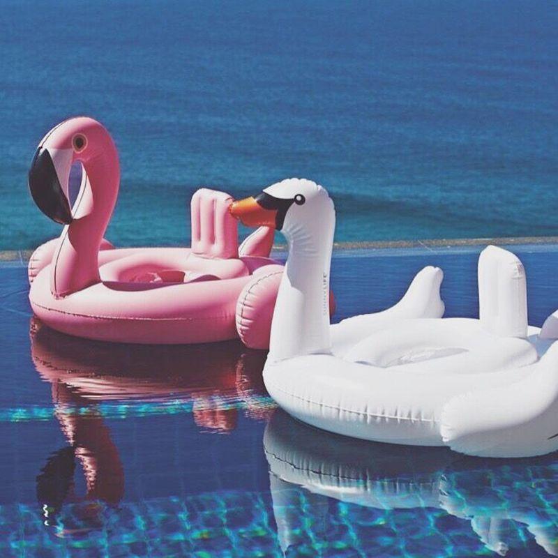 2016 zomer baby roze flamingo zwemmen ring opblaasbare for Accessoire piscine fun