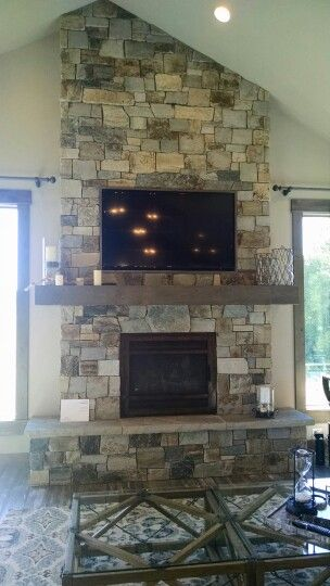Fireplace with tv above, vaulted ceiling | fireplace ...