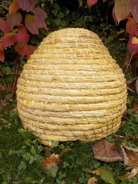 Skep Beehive In Traditional Medieval Style Materials Natural