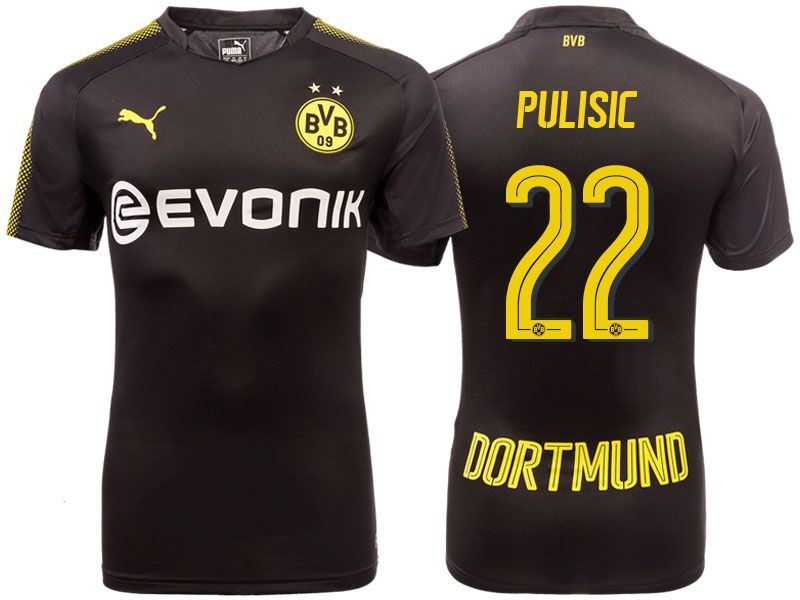 Borussia Dortmund 2017-18 Away Shirt christian pulisic  73f97f10a