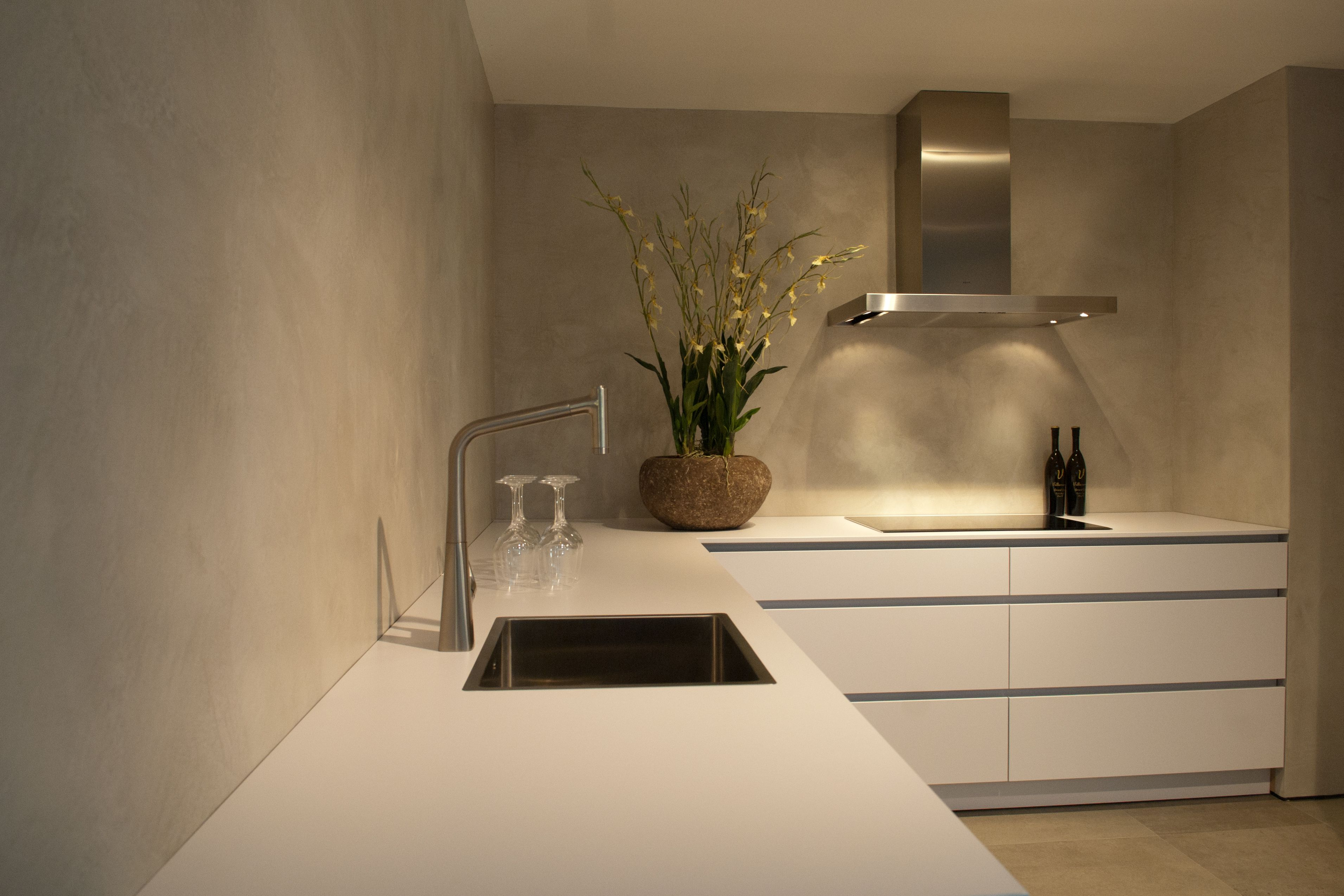 Betonstuc keukenwand keuken pinterest kitchen home kitchens