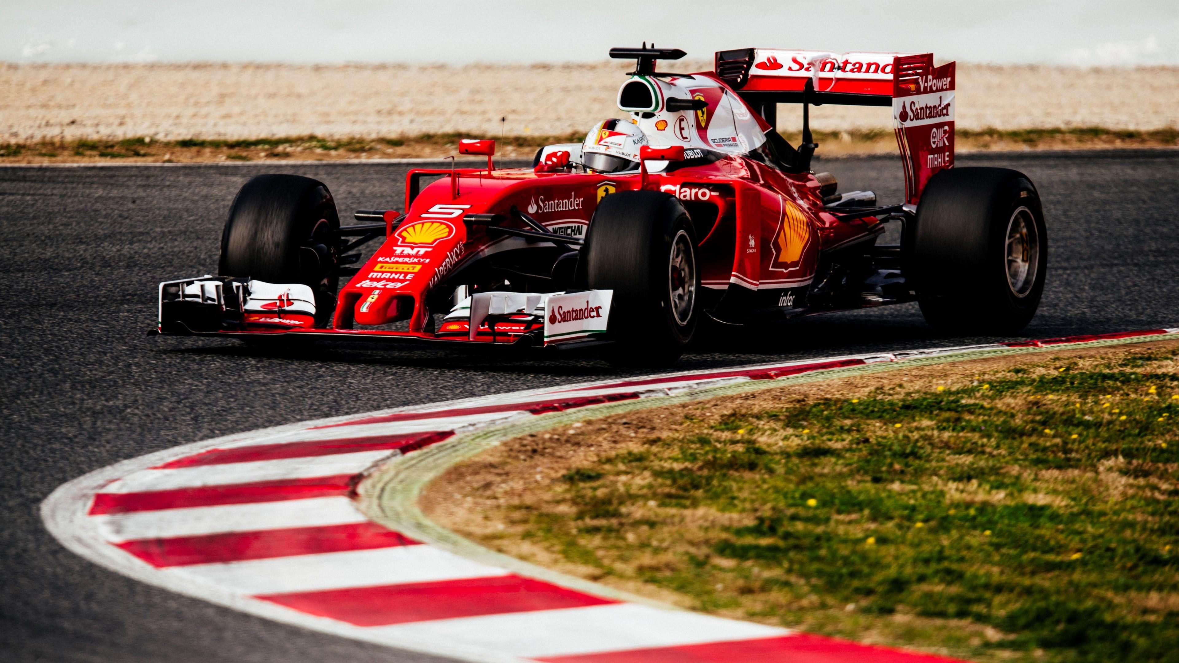 Sebastian Vettel Formula 1 F1 Ferrari Ferrari F1 Vettel Ferrari Sport 4k Wallpaper Hdwallpaper Desktop In 2020 Ferrari Formula 1 Ferrari F1