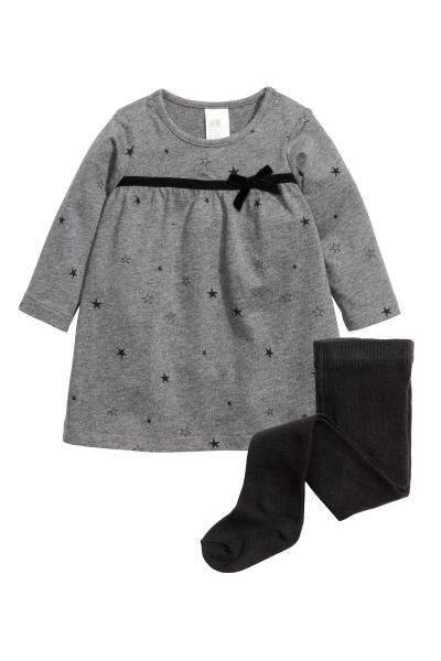 Vestido para Beb/és Mamas /& Papas Spot Print Jersey Dress