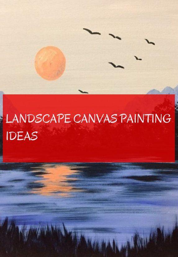 landscape canvas painting ideas