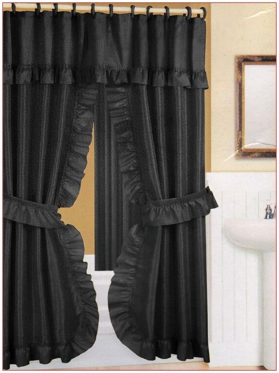 Drapes Curtains Double In 2020 Double Swag Shower Curtain
