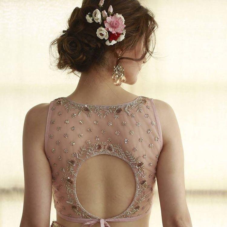 Photo of Blouse back design ideas for your wedding saree & lehenga!