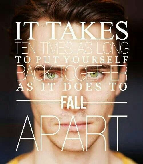 Quote from finnick odair somedaysomehow pinterest hunger it takes ten times as long to put yourself back together as it does to fall apart the hunger games solutioingenieria Image collections