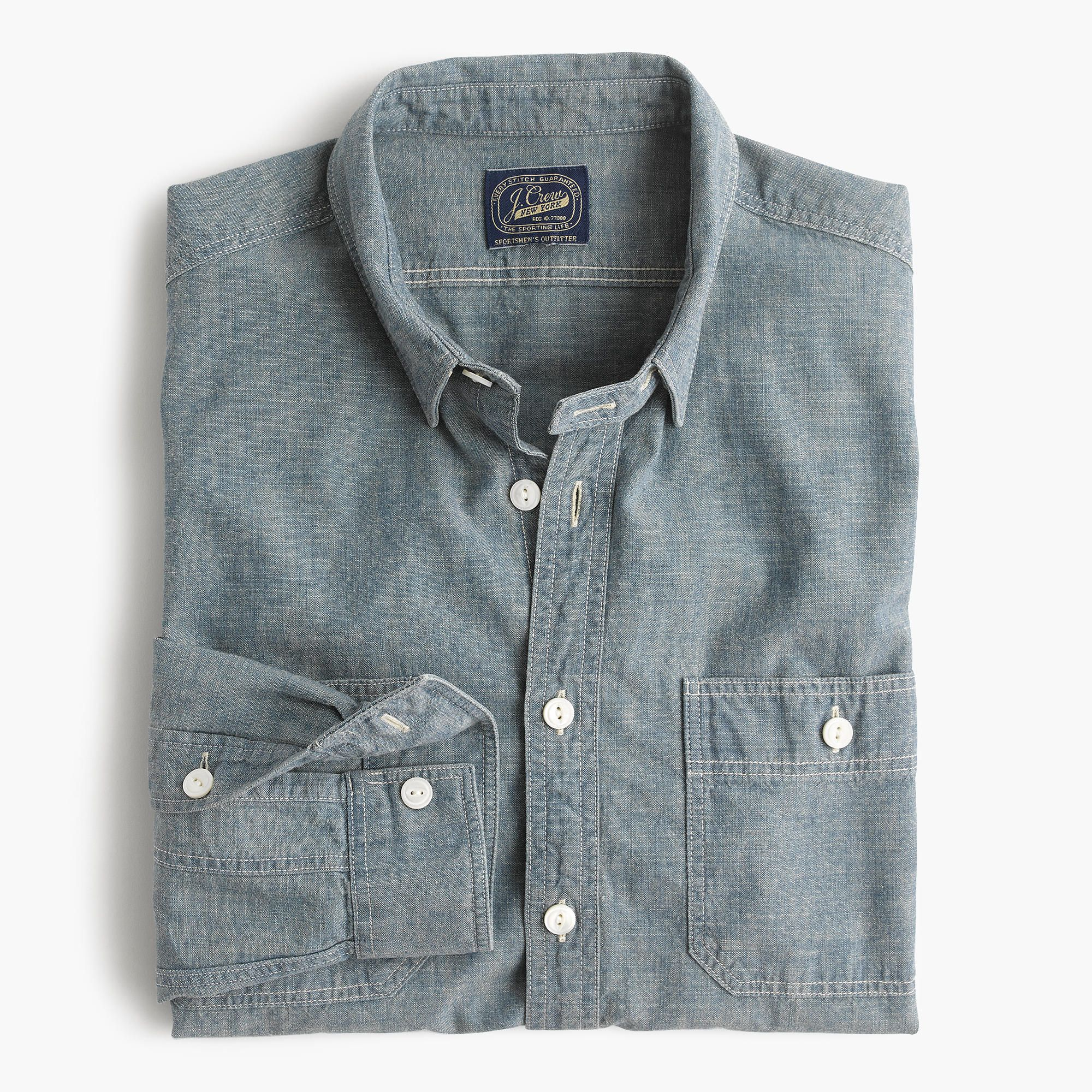 90892e3cf27 Shop the Slim Selvedge Japanese Chambray Utility Shirt at JCrew.com and see  our entire selection of Men s Shirts.  98