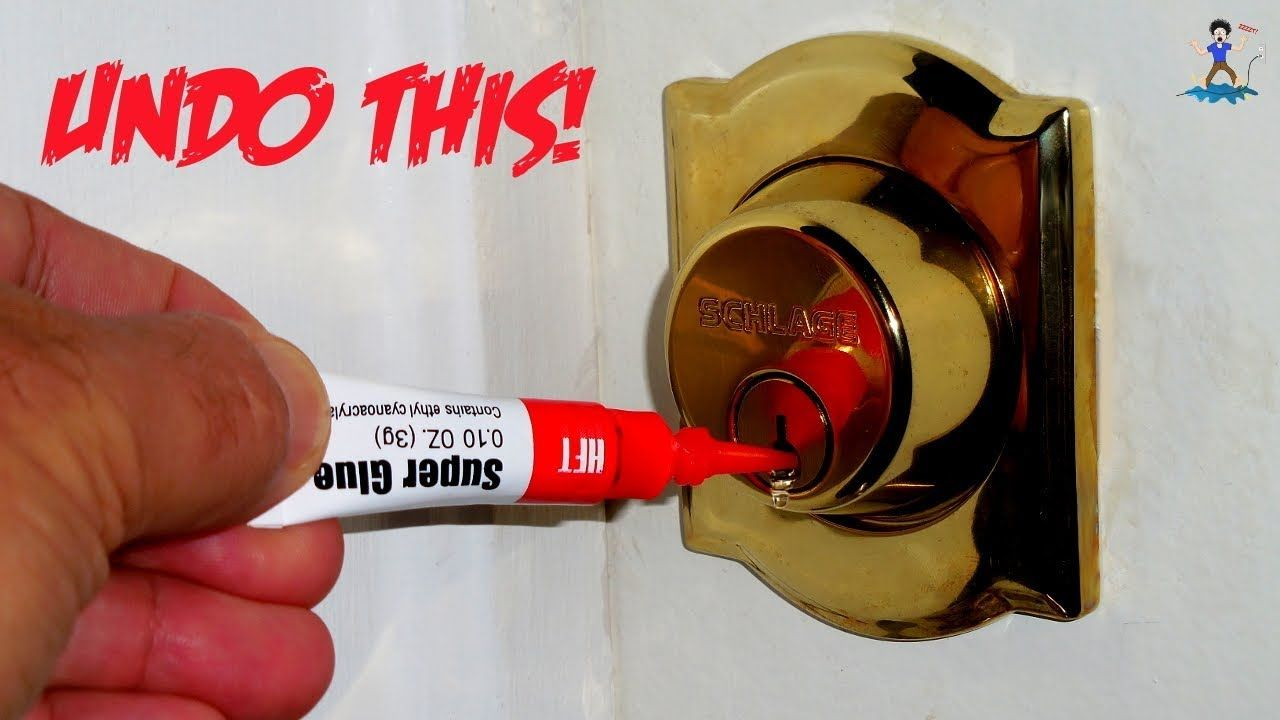 How To Open Deadbolts Locks Filled With Super Glue Youtube Super Glue Deadbolt Lock Deadbolt