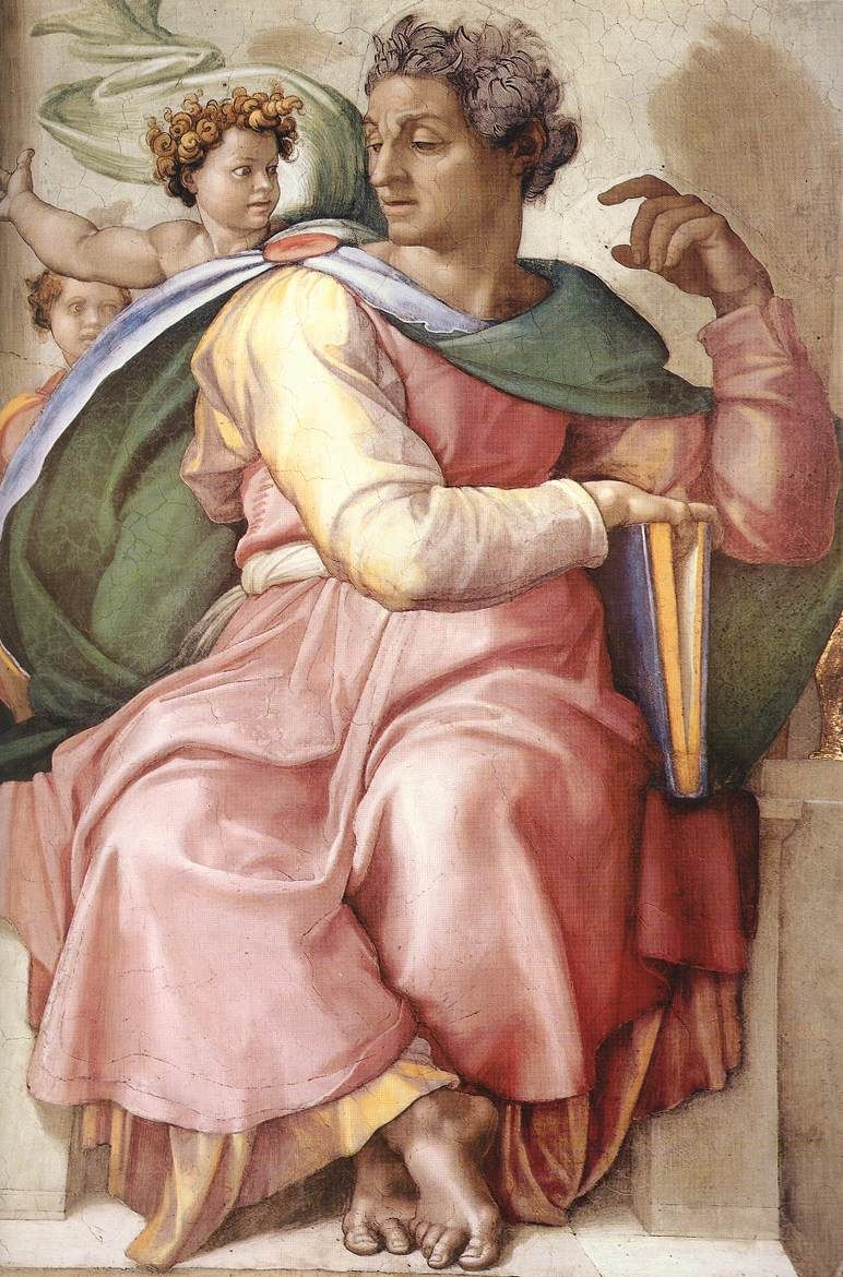 Michelangelo, Isaiah, Detail from the Sistine Chapel ceiling, 1511-2