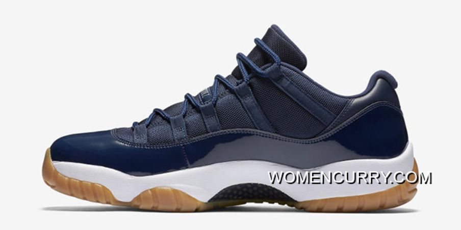 New Air Jordan 11 Low Midnight Navy White-Light Gum Brown Coin-Black ... f2aba016c069