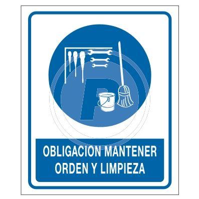 Cartel obligaci n orden y limpieza taller barco for Cartel oficina