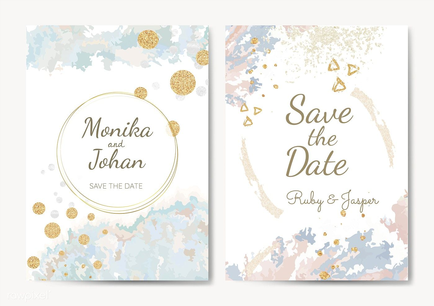 Download Premium Vector Of Save The Date Wedding Invitation Vector