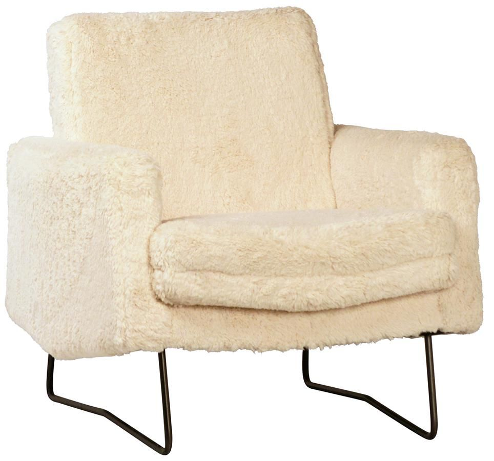 Lillian August Faux Fur Accent Chair: Chair, Accent Chairs, Handmade Furniture