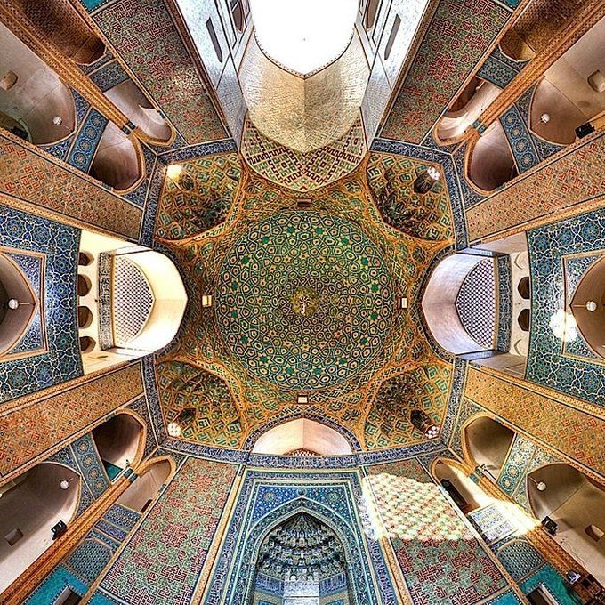 Pin By Adil Taj On Ceiling In 2019: 18th Century Iranian Architecture In 2019