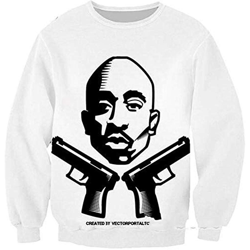 vasta selezione di f54db c7d26 MOIMK Abbigliamento Uomo Felpa 2Pac Tupac Felpa Hip Hop ...