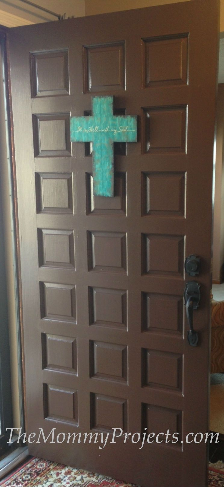 Updated Front Door From Red To Turkish Coffee By Sherwin Williams Themommyprojects