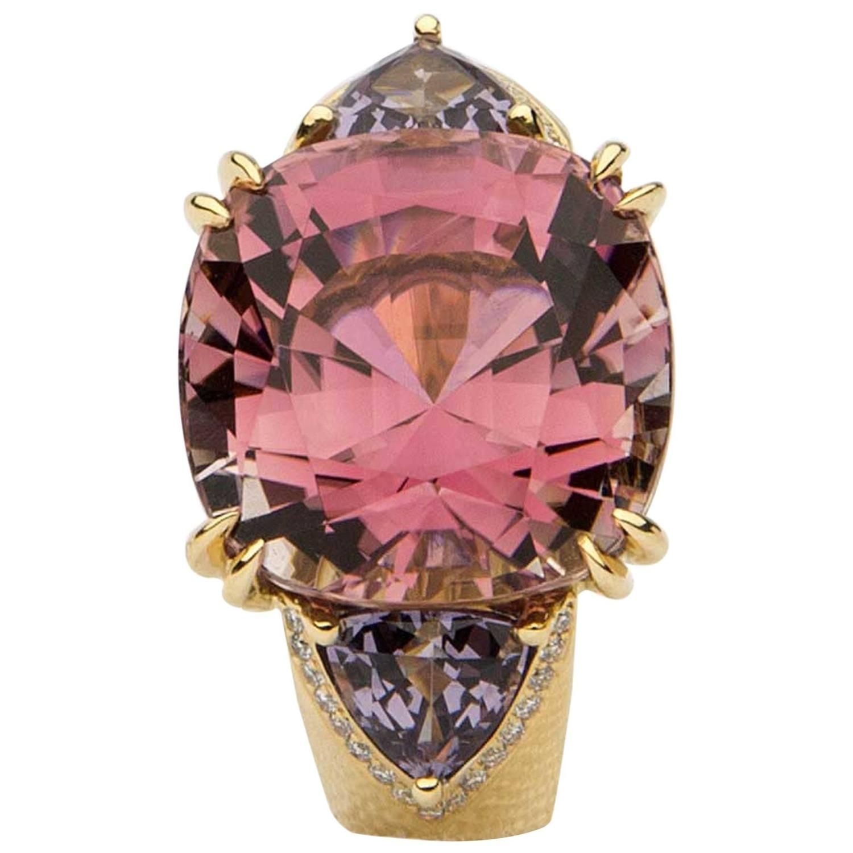 David Precious Gems Tourmaline Spinel Gold Ring | Gold rings, Gems ...